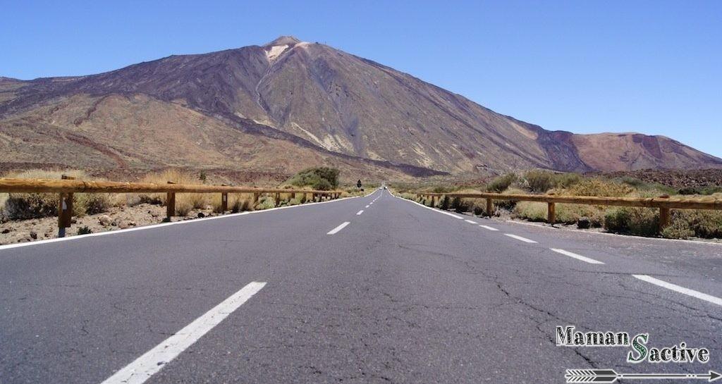 Tenerife route vers le volcan du Teide