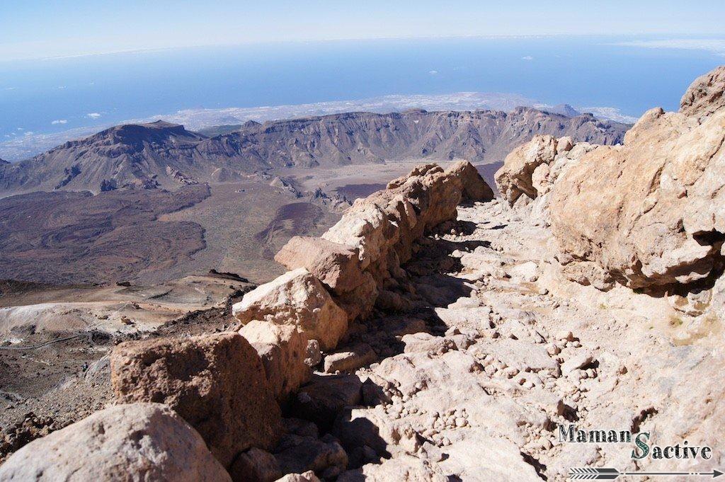 Tenerife chemin pour accèder au sommet du teide